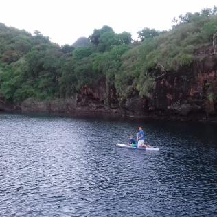 Séance de paddle matinale