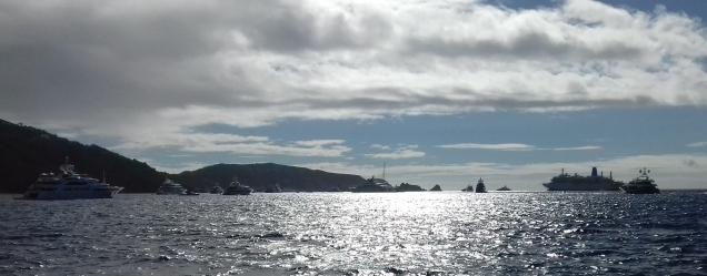 Forêt de yachts à St Barth