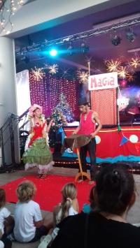 Sandra et Paolo en plein spectacle