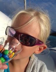 Il y a même des bulles dans les verres des enfants !