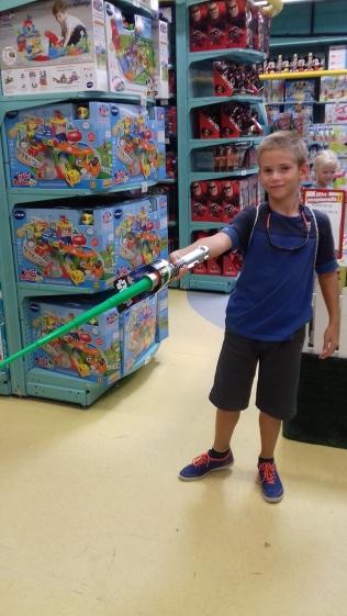 Escale au magasin de jouet