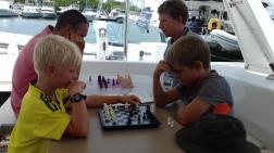 Tournois international d'échec, pendant le salon nautique.